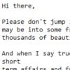 【迷惑メール】hello Please don't jump into the conclusion