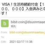 VISA!生活持続給付金【12億8000万円】 入金済みとなっております!