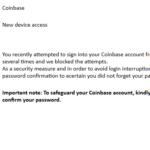 Coinbase Unusual sign-in activity コインベースを名乗るログイン誘導に注意